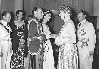 Princess Olga of Greece and Denmark - Prince Paul and Princess Olga during his reign as prince regent.