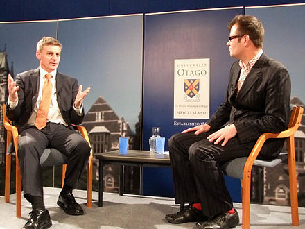 English interviewed as a part of the Vote Chat forum at the University of Otago, October 2011 Bill English Vote Chat.jpg