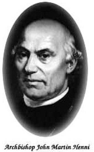 John Henni - Image: Bischof Johann Martin Henni