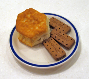 American biscuit (left) from Bob Evans Restaur...