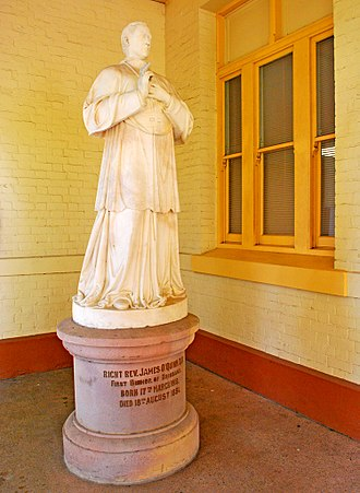 St Stephens School, Brisbane - Statue of Bishop Quinn, 2012