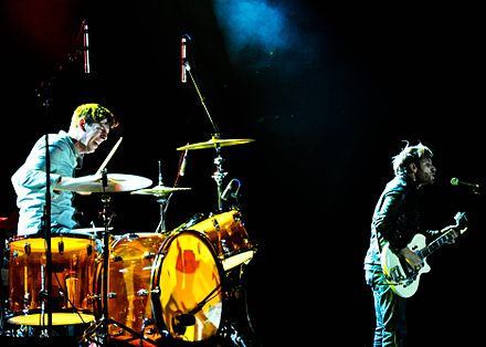 The Black Keys performing in February 2010, three months before the release of their breakthrough album Brothers Black Keys Feb 2010 in Jacksonville.jpg
