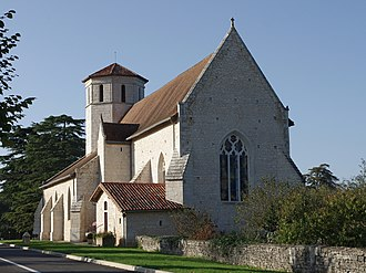 Blanzay - The church of Saint-Hilaire, in Blanzay