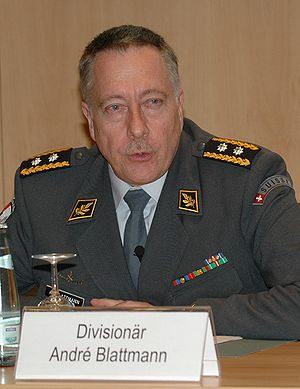 Swiss Armed Forces - André Blattmann, chief of the Armed Forces from 2009-16