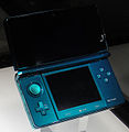 Blue Nintendo 3DS at E3 2010 (open).jpg