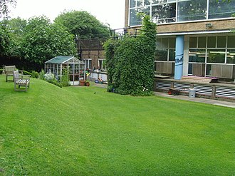 Blue Peter - The former Blue Peter garden at BBC Television Centre in 2008.