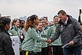 Boat Race 2018 - Umpire shakes hand Women's Blues Race (18).jpg