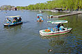 Boats and duck in Beihai Park lake, Beijing.jpg
