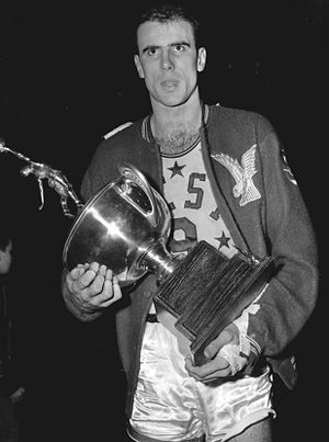 1958 NBA All-Star Game - Image: Bob Pettit 1958 NBA All Star Game