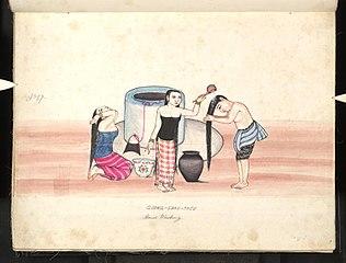 Goong-shau-tee. Head washing