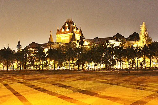 Bombay High Court - Lit up at night - 1