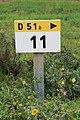 Borne Km 11 D51b Route St Jean St Cyr Menthon 3.jpg