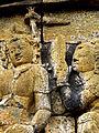 Borobudur - Lalitavistara - 015 E, The Queen wishes to meet King Suddhodana in the Asoka Park (detail 1) (11247787496).jpg
