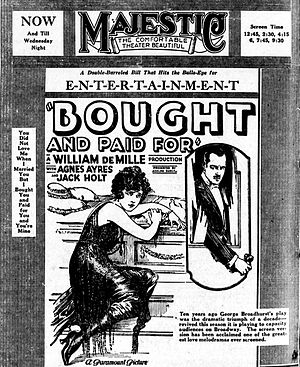 Bought and Paid For - Newspaper advertisement