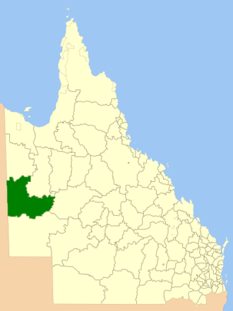 Shire of Boulia - Location within Queensland