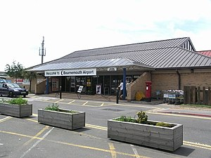 Bournemouth Airport - The former terminal building which has been replaced under expansion