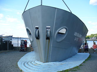 USS Fall River (CA-131) - Bow of USS Fall River at Battleship Cove