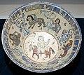 Bowl with design of equestrian figure, Iran, Minai type, 13th century AD, enamelled ware pottery - Matsuoka Museum of Art - Tokyo, Japan - DSC07251.JPG