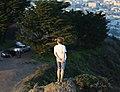 Boy standing on a rock at Twin Peaks.JPG