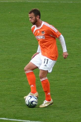 Brad Davis (soccer) - Davis playing for Houston Dynamo in 2006