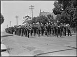 Brass band in funeral procession (Sir Thomas Henley's?) in Drummoyne (3877423382).jpg