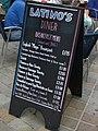 Breakfast menu, Latino's Diner, Main Street, Gibraltar.jpg