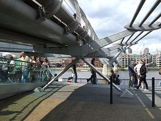 Millennium Bridge, London - Fluid dampers