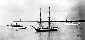 USS Niagara (1813) - Niagara at Put-in-Bay, Ohio for the centennial of the Battle of Lake Erie in 1913.