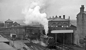 Brighouse railway station - The station in 1961