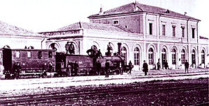 Brindisi railway station - The station in 1870.
