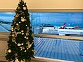 Brisbane Airport Domestic Terminal Christmas trees in 2016.jpg