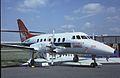 British Aerospace BAe-3201 Jetstream Super 31 N370MT Northwest Airlink, Farnborough UK, September 1988. (5589845242).jpg