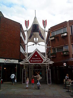Shopping centre in Nottingham