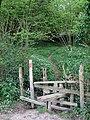 Broken Stile and Footbridge - geograph.org.uk - 1285927.jpg