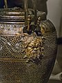 Bronze Lychnouchos (lantern) with Pan relief from the tomb of Philip II of Macedon in Aigai 336 BCE 02.jpg