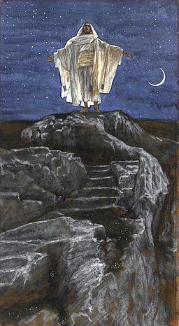 Brooklyn Museum - Jesus Goes Up Alone onto a Mountain to Pray (Jésus monte seul sur une montagne pour prier) - James Tissot - overall