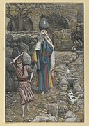 Brooklyn Museum - Jesus and his Mother at the Fountain (Jésus et sa mère à la fontaine) - James Tissot - overall.jpg
