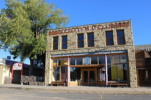 Cimarron, New Mexico - Brooks Mercantile Building, c. 1909.