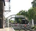 Brundall railway station - manually operated crossing gates - geograph.org.uk - 1531829.jpg
