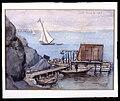 Brygga med skjul, båtar. Fritz von Dardel - Nordiska Museet - NMA.0043697.jpg