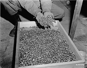 Aryanization (Nazism) - Reichsbank president Walther Funk banked the gold rings of Buchenwald victims for the SS