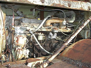 Buda Engine Co. - Old Buda 8-cylinder Diesel engine