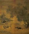 Buffles et vacher fuyant l'orage, attribué à Li Di.png