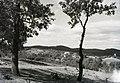 Buják, 1929 szemben a Kálvária-hegyen a Szent Anna-kápolna. Fortepan 95383.jpg