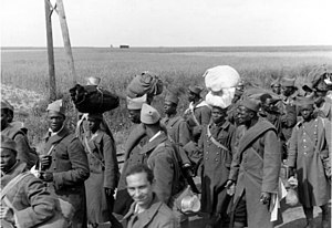 Persecution of black people in Nazi Germany - Black prisoners of war from French Africa, captured in 1940