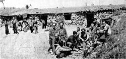 Bundesarchiv Bild 183-H28510, Spanien, Gefechtsstand des Etkar André Bataillons