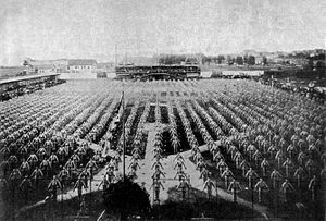 Mass games - Federal Gymnastics Festival in Milwaukee, 1893.