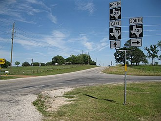Burleigh, Texas - Image: Burleigh TX FM 331 and 529