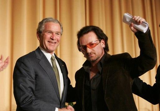 Bush and Bono