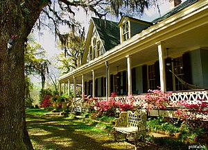 St. Francisville, Louisiana - One of several former plantation houses near St. Francisville